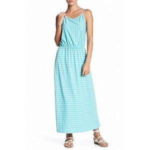 Fourteenth Place Spaghetti Strap Stripe Maxi Dress